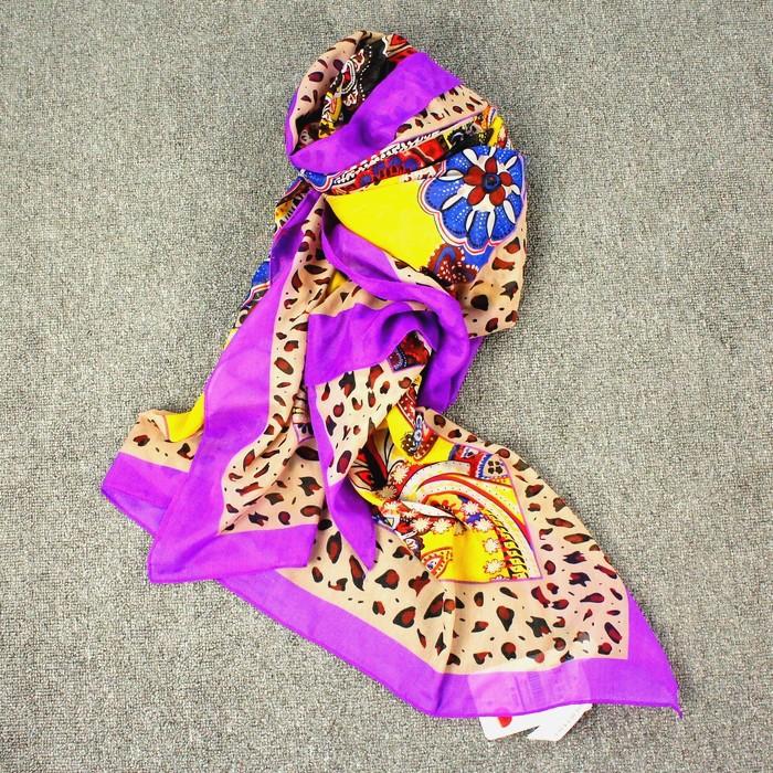 za brand women Bohemia color print scarf designer Multicolor sale(China (Mainland))