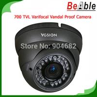 OSD 700 TVL IR Distance  IR distance 30Meters 2.8-12 mm Lens indoor Vandal proof Metal IR Security Camera