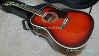 Acoustic Guitar Sunburst Top AAA Solid Spruce Abalone Binding Body 41 inches