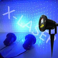 Romantic outdoor christmas waterproof laser light,single blue static garden laser light for park/lawn/christmas tree decoration