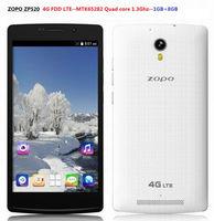 Original ZOPO ZP5204G FDD LTE Quad Core 1.3GHz 5.5 inch IPS Screen 1GB+8GB 8MP mobile phone android smart phone