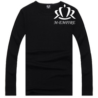 3d Printed T-shirt  Hip-Hop Long-Sleeved Brief T-Shirt 2014 Autumn Designer Famous Brand Black Color  Mens Sport T Shirt