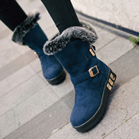 Fashion winter knee-high thermal boots round toe short sleeve boots snow boots,free shipping