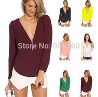 Hot Selling New 2014 Fashion Hollow Lace Summer Autumn Chiffon Women Blouse Shirt free shipping