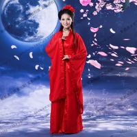 Acetate The performance redness shoot Costume hanfu tang suit nv clothes elegant women's pure young girl costume photo service