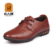 Crocodile leather casual male fashion male leather lacing genuine leather casual shoes leather shoes