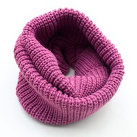 free shipping new arrival winter women outdoor warm acrylic loose infinity thicken cotton knitted ring circle scarf tube