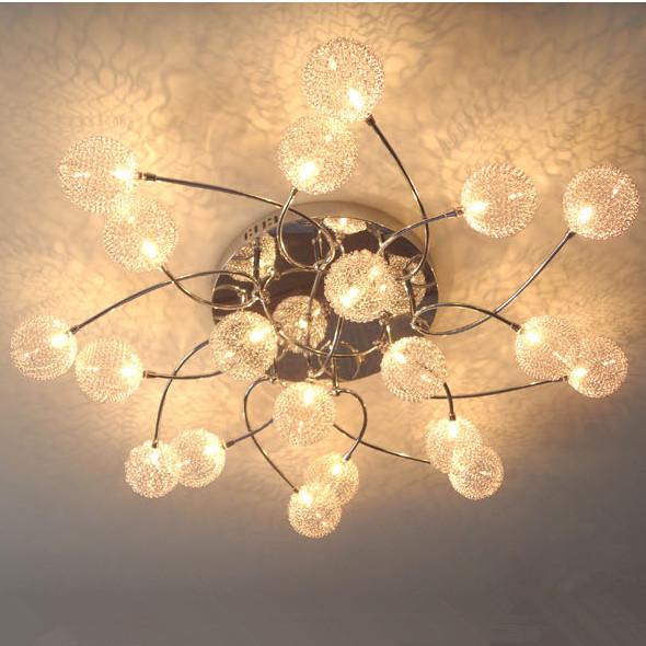 Modern 20 Lights Aluminium Glass Balls Shade Ceiling Light Ceiling Lamp Living Room Bedroom Dining Room Lighting(China (Mainland))