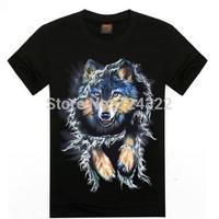 2015 new hip hop fashion 3d animal print men t shirt mens cotton O-Neck Short tee tshirt  compression t-shirt men Free shipping