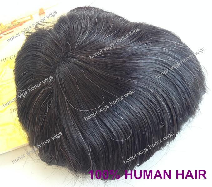 "Customer 100% Mongolian Hair 6"" White Toupee Human mongolian Hair Men Toupee(China (Mainland))"