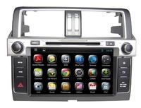 8 inch  Land Cruiser Prado 2014 Car DVD with GPS Navigation Bluetooth Radio iPod USB SD ATV Free Map Canbus