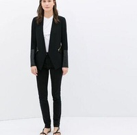 Special offer!New women's long PU sleeve OL leisure suit jacket,Brand Breif Lady's Blazers Free shipping