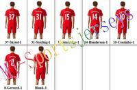 Free shipping-2014/15 Season #31 Sterling Home jersey&short,Soccer team uniforms