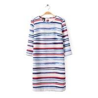 New Stylish Colorful Stripe Pattern Women Casual Dress Three Quarter Sleeve O Neck Lady Slim Dress YS93032