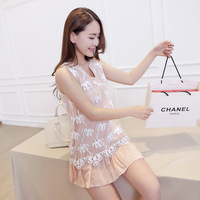Free shipping! 2014 summer gentlewomen fashion beaded organza patchwork one-piece dress! A14518