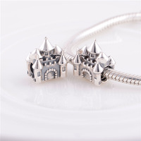 New Coming High Quality Castle charm bead, 100% 925 Sterling Silver, fits European brand bracelets, Free Shipping