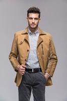 Free shipping Autumn winter 2014 new brand men's jackets men's middle-aged men washed cotton Velvet jacket Jacket