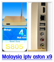 Golden Aston X9 Android IPTV Box Malaysia Pack watch 150+ Astro live tv channels BPL champions league alternative of starhub