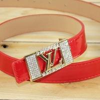 2014 South Korea Fashion brand New Ladies' Pin buckle belt women Candy color knitting Leisure joker A narrow belt Free shipping