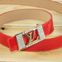 2014 South Korea Fashion brand New Ladies' Pin buckle belt women Candy color knitting Leisure joker A narrow belt Free shipping