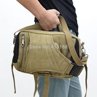 Hot new fashion multifunction pockets can shoulder portable canvas bag Men Women General