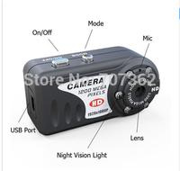 DHL Free Shipping T8000 HD 1080P 1920X1080  IR Night Vision Q5 Metal small Camera with retail box with 30pcs/lot