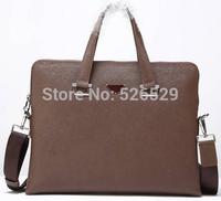 Free Shipping 3 colors men male top quality brand designer genuine leather handbag business briefcase shoulder messenger bags