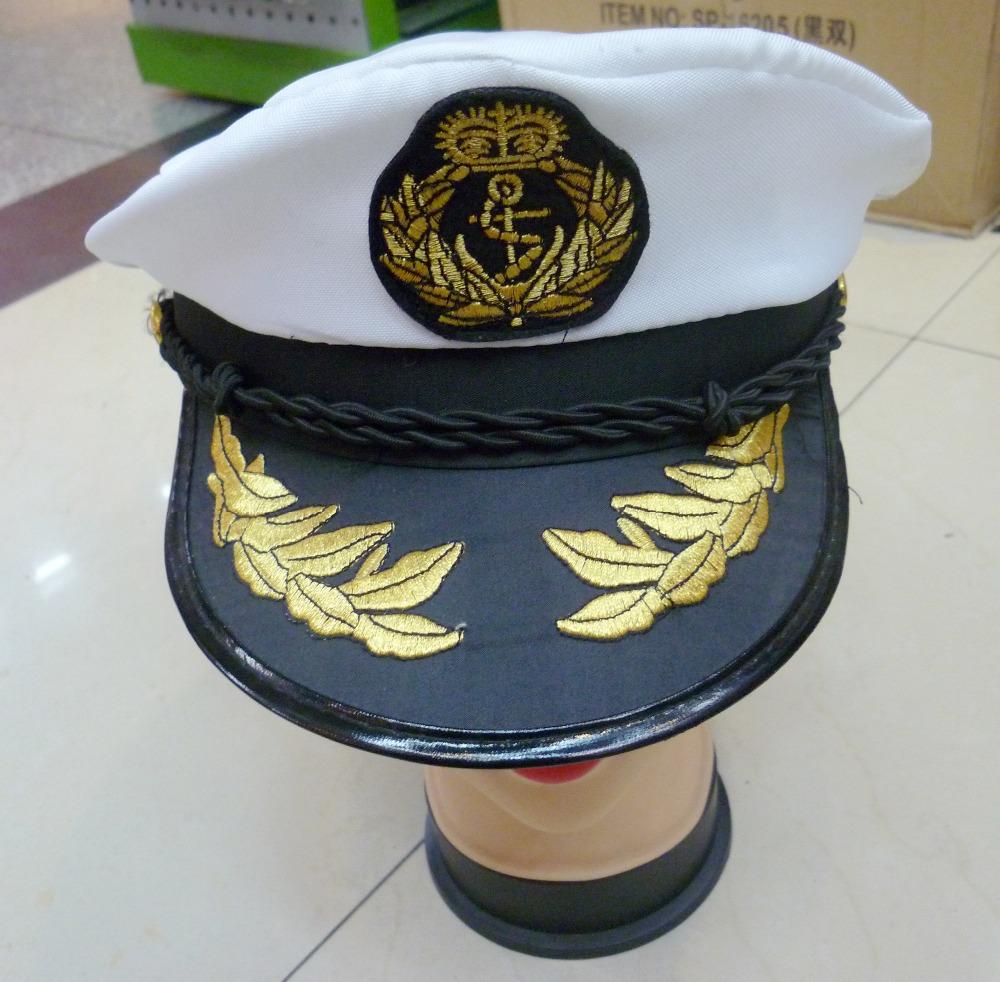 Grátis frete marinha chapéu forças chapéu chapéu de marinheiro chapéu da polícia marítima(China (Mainland))