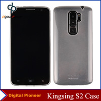 100% Original Transparent/Clear Soft Silicone Back Cover Case For Kingsing S2 Case