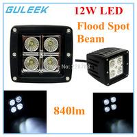 3 Inch 18W Type/F 6000K 6-Cree XB-D LED Square Work Light Lamp DIY Used in Car/Boat/Auto Headlight Spot Flood Beam