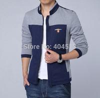 Tops 2014 new hot mens jackets cotton outwear men's coats casual fit style designer fashion jacket 2 colors M~XXXL