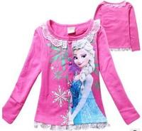 2014 Princess Frozen Children Kids Coats Cardigan Jackets Cotton Children's Spring and Autumn Clothing for Girls