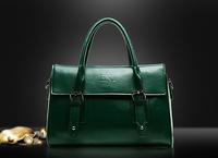 Quality Oil Wax Leather Handbags Women Fashion Tote Vintage Cross-body Messenger Bags European Elegant Purse Belt Decoration