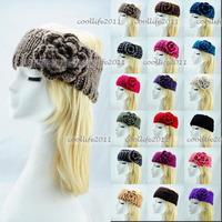Free shipping ,Newest Knit headband handmade headwear women Knit crochet Headwrap ear warmer