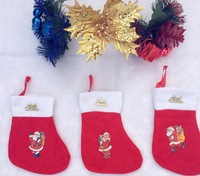 Hot Sale New Cartoon Christmas Socks Christmas Non-woven Stockings Santa Christmas Decoration Christmas Gift Candy Bag 3PCS/lot