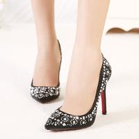 Rhinestone plus size t high-heeled shoes ruslana korshunova women's ultra high heels shoes 011 a7