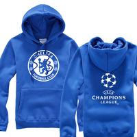 Christmas 2014 new promotional Champions Chelseas team logo Korean fleece Hoodies jacket men hedging