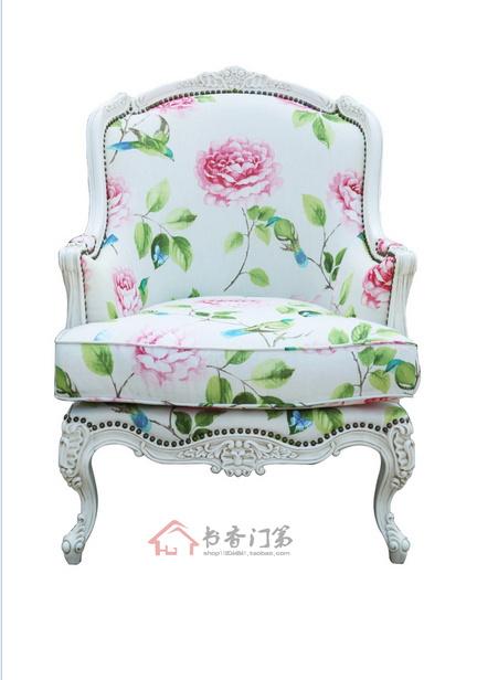 American Village tiger chair dining chair custom European-style sofa leisure single chair high back sofa(China (Mainland))