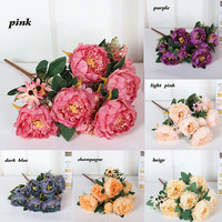 Artificial flowers Vintage Silk Peony Simulation home wedding decor flower