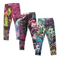 Kids Girls Monster hight Monster.high Pencil Pants baby Leggings Clothing Capris Christmas Gift for girl Children Clothes retail