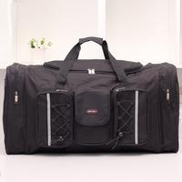King Size Capacity Man Travel Bags Black Oxford Waterproof Bag Outdoor Sport Bag Men Weekend Travel Duffle Hiking Bags 2014 New