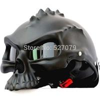 Masei Skull Helmet Motorcycle Half Helmet Masei 489 Matt Black Standard for Harley and Davidson Biker