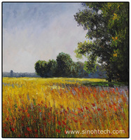 Repro Claude Monet Oil Paintings Oat Fields Oil Paintings on Canvas Handmade