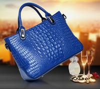 2014 inter New Fashion Quality Alligator Handbags Women Crocodile Patterm PU Leather Tote Cross-body Messenger Bolsas Femininas
