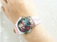 Wholesale Frozen Wristwatches 5Pcs/Lot Princess Anna/Elsa Kristoff Snowman Olaf Watches Kids Christmas Gift Colors to Choose
