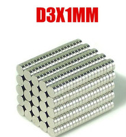 100Pcs 3mm x 1mm 3x1mm 3*1mm nickel rare earth magnetic material Small Round NdFeB Neodymium Disc Magnets N35
