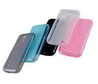 High Quality Wave Soft TPU Case Cover Skin For Samsumg Galaxy s4 mini i9190 I9192 TPU Case Cover Skin Transparent Silicon Cover