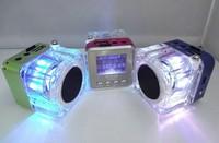 20pcs Original NIZHI TT029 portable Mini Speaker with FM+Flash light+big Sound+mental case Free shipping