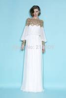 vestido de renda heavy bead summer race chiffon long sleeve long dress