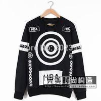 2015 hba fashion circle big letter 15 lovers plus velvet sweatshirt pullover free shipping